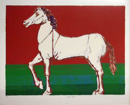 Art work by  Saulo Cavallo - lithography paper